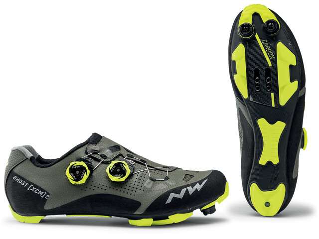 Northwave Ghost XCM 2 Zapatillas Hombre, forest/yellow fluo